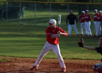 Josh Bynum steps to bat.