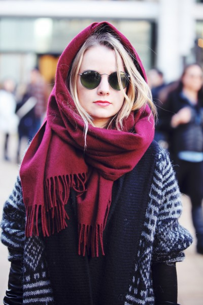 Yes, another excuse not to  fix your hair. Although winter is coming to an end, wrap up in a silk scarf and shades for a fashion forward down day.