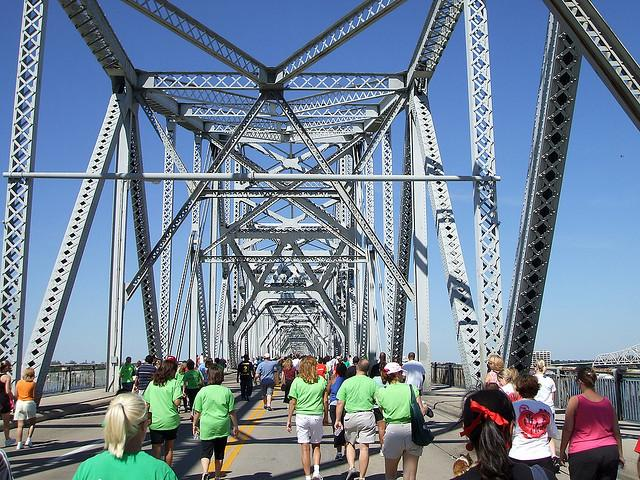 Louisville residents march in the Louisville AIDS walk. Photo by Crimthann Fid-Nemed http://www.flickr.com/photos/usarmymutt/