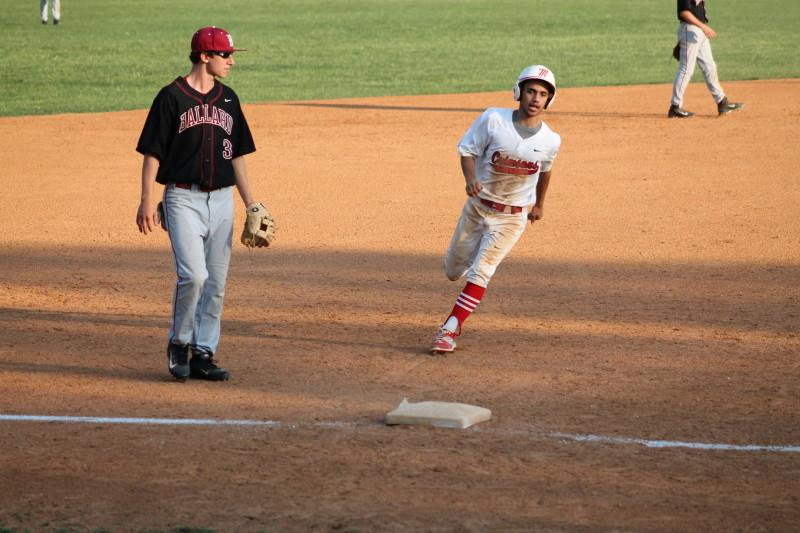Aubrey Lipscomb (12 ,#3) steals third base after an error from Ballard's catcher. It was Lipscomb's second stolen base of the game, both coming in the third inning.