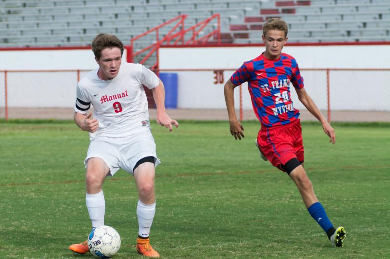 Dylan Barth (11,#9) scores his second goal of the night. Photo by Luke Smith