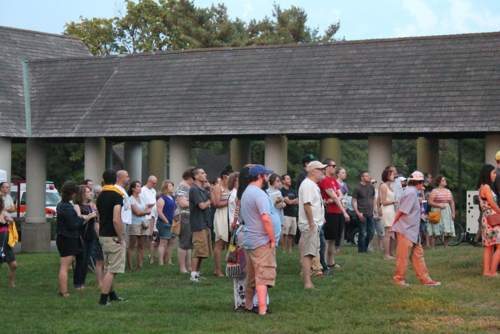 Crowd at Outsized Influence festival Sat. Aug. 29. Photo by Kaylee Arnett