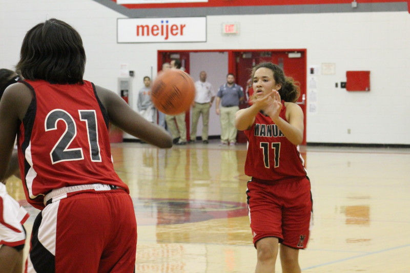Crisp and unselfish passing played a major role in the Lady Crimsons' win over Waggener. Photo by Kate Hatter.