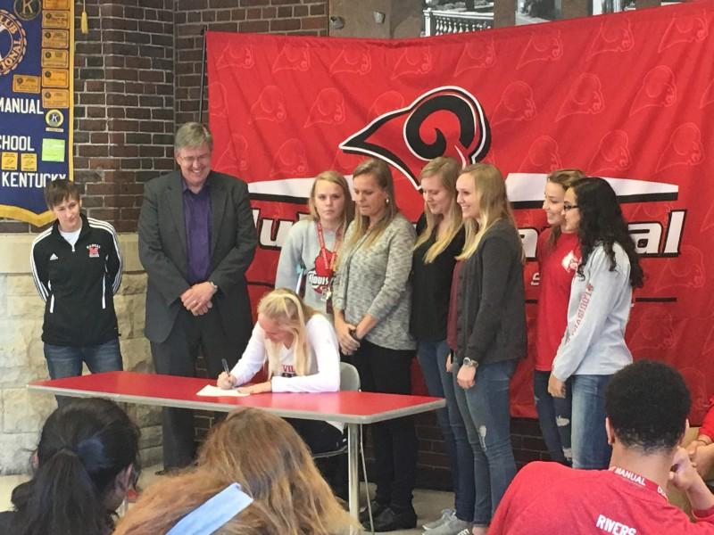Allison Whitfield signed to play soccer at the University of Louisville. Photo by Jack Grossman.