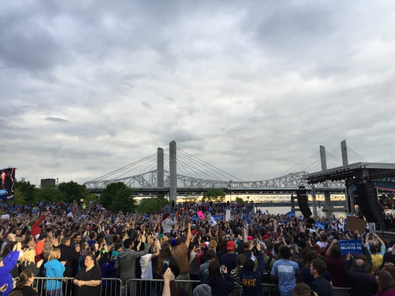 The Bernie Sanders rally was held on Waterfront Park on May 3.