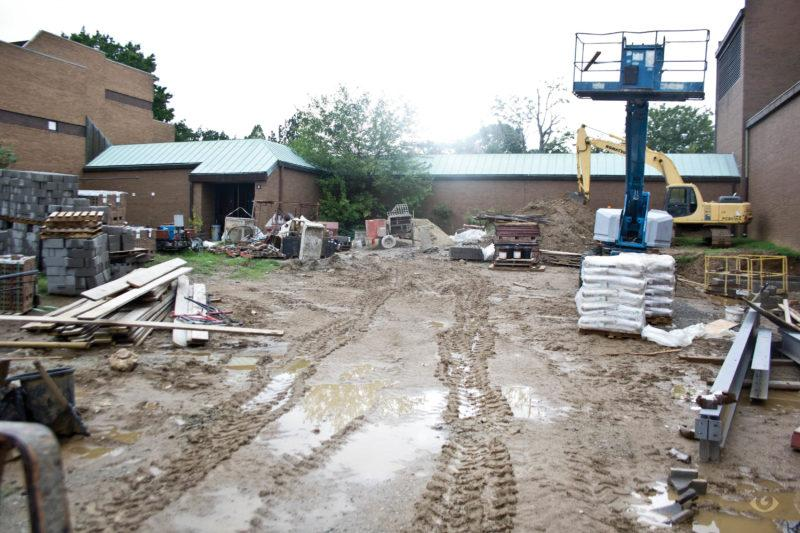 Construction site behind the YPAS main building Wednesday Aug. 17, 2016
