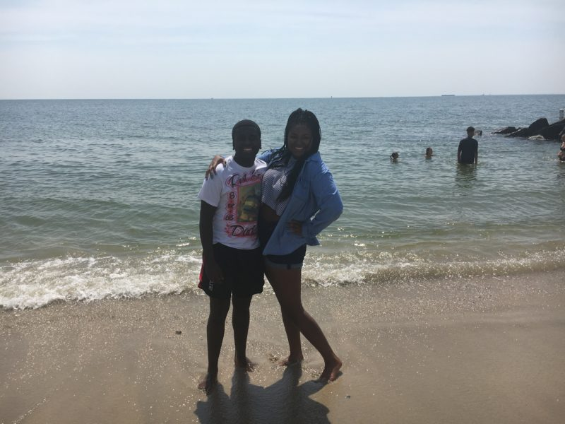 A picture of siblings Tyren and Tejah Moore.