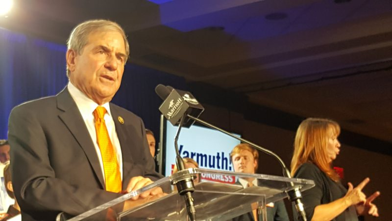 Yarmuth speaks to the crowd. Photo by Phoebe Monsour.