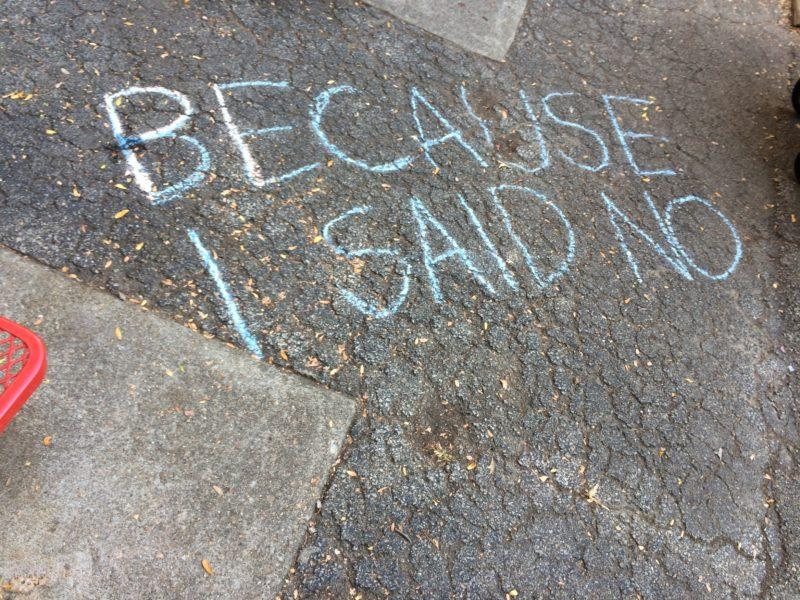 Words of empowerment written on Manual's courtyard. Photo by Maya Joshi